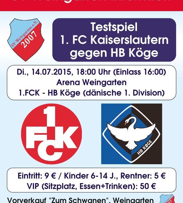 1. FC Kaiserslautern in Weingarten