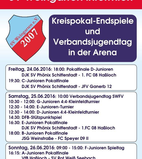 Verbandsjugendtag und Junioren-Kreispokalendspiele