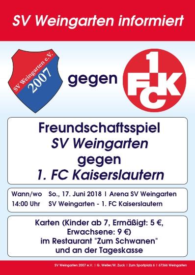 Testspiel SV Weingarten gegen 1. FC Kaiserslautern