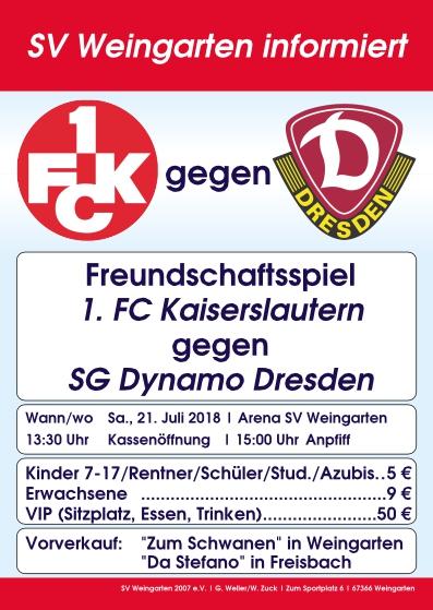 Testspiel 1. FC Kaiserslautern gegen Dynamo Dresden