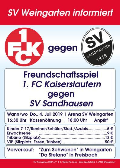 Freundschaftsspiele des 1. FC Kaiserslautern in Weingarten